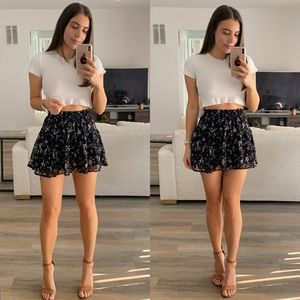 Dresses & Skirts - Flower Print Mini Skirt